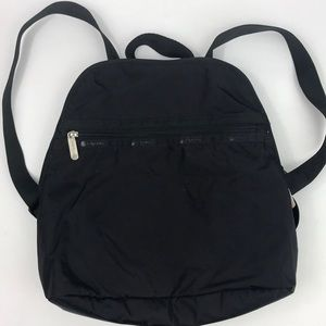 LeSportsac Black Backpack Travel Sporty
